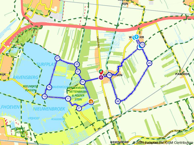 Wandeling Reeuwijkse Plassen, Driebruggen en Waarder
