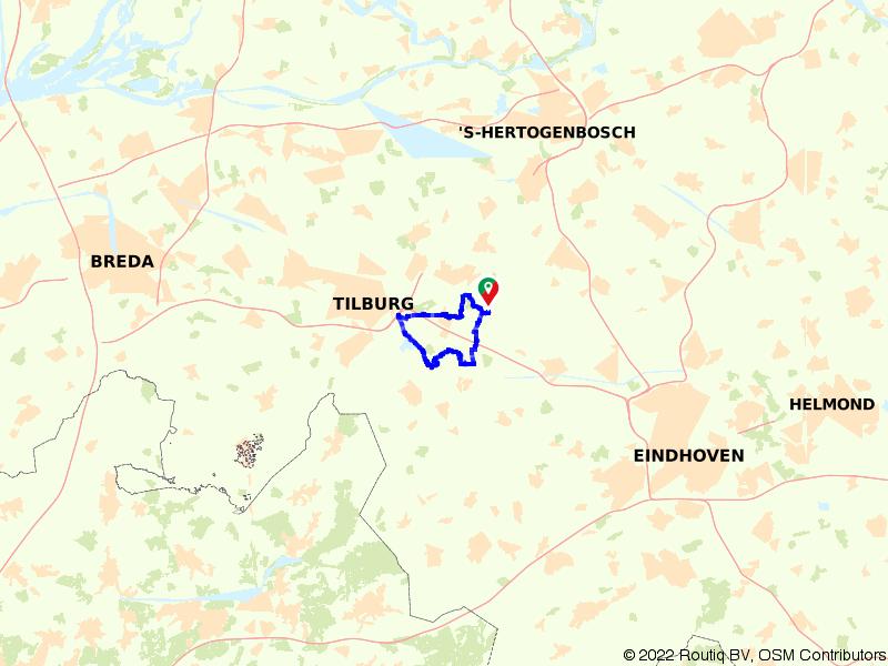 Rondje Koningshoeven en Oisterwijkse Bossen en Vennen