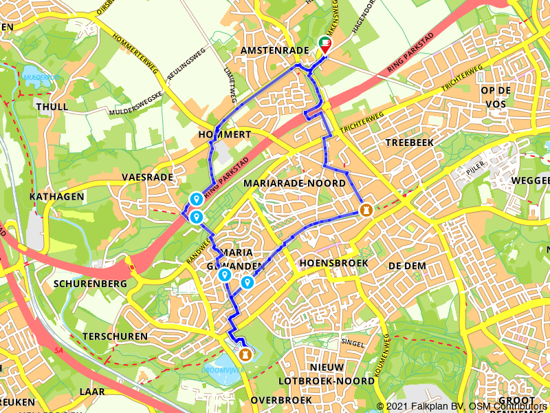 Rondje Kasteel Hoensbroek vanuit Amstenrade