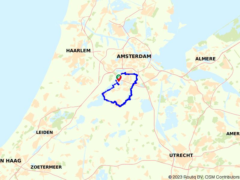 Rondje Amsterdamse Bos, Ouderkerk en Westeinderplassen