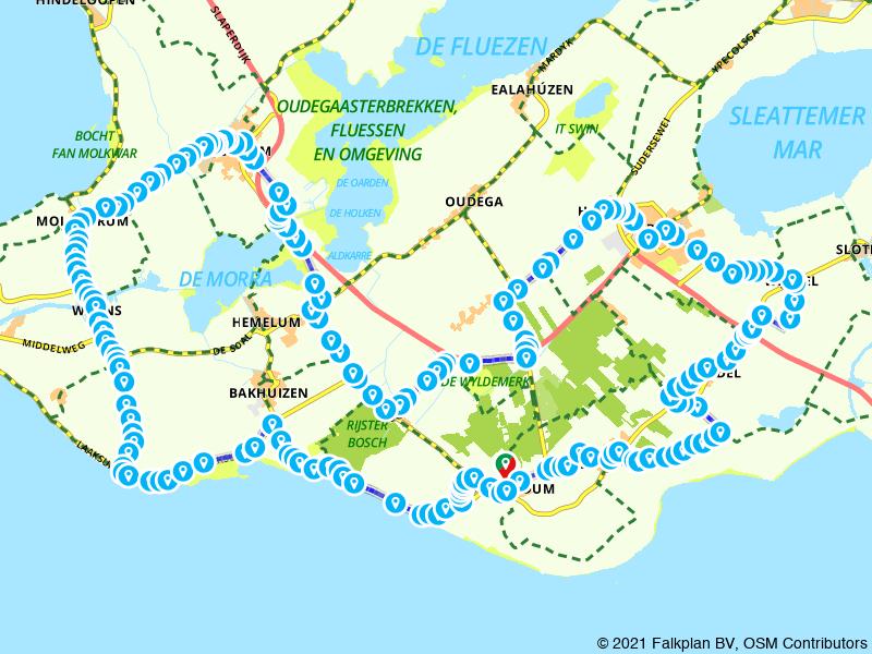 Fietsroute rondje Gaasterland