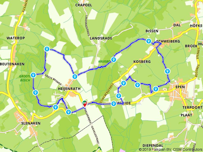 Wandelen over de slingerwegen in Zuid-Limburg
