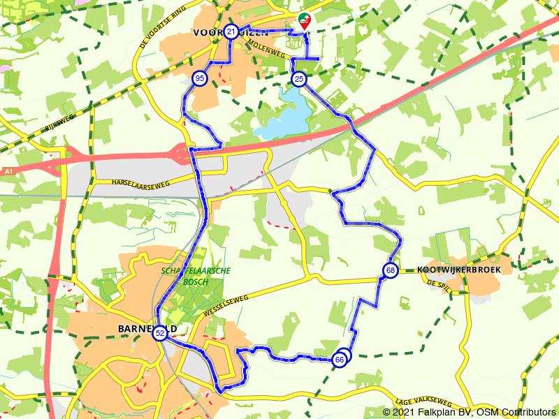 Rondje Schaffelaarsche Bos en Barneveld