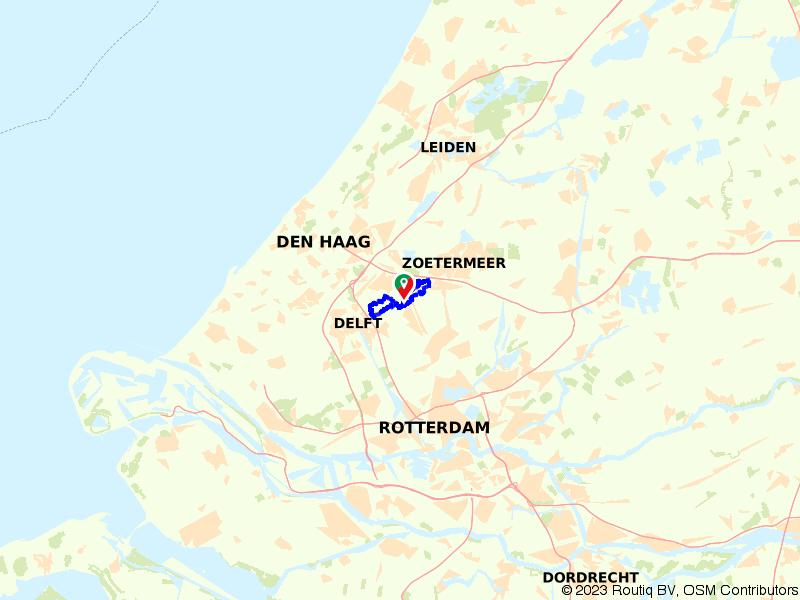 Stevige wandelroute Delftse Hout en Balijbos