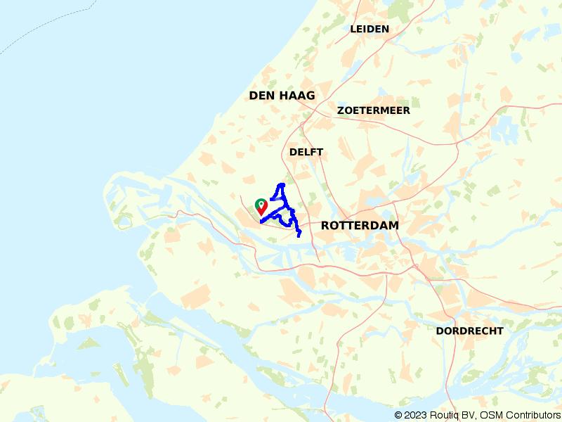 Delflandse Trekvaarten Route Maassluis 30 km