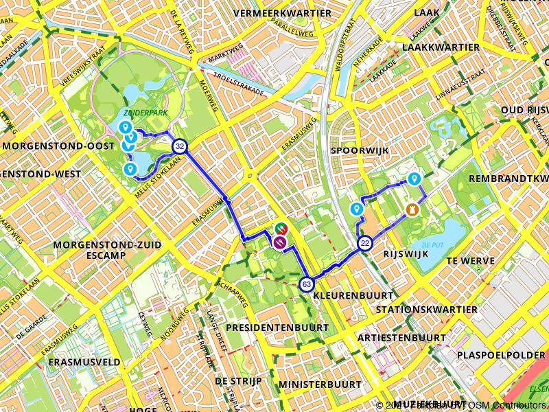 Wandeling Zuiderpark en Huis te Werve