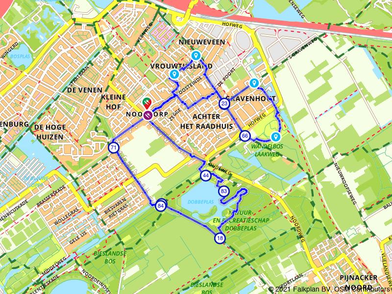 Rondje Dobbeplas en Wandelbos Laakweg