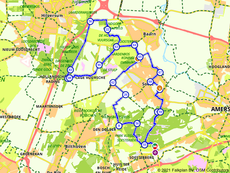 Koninklijk fietsen rondom Soest