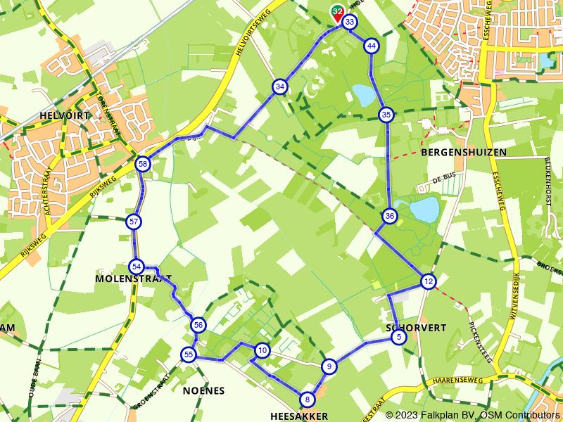 Door broek en bos in Brabant