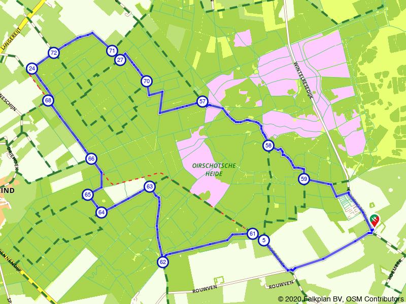 Wandelen over de Oirschotse Heide