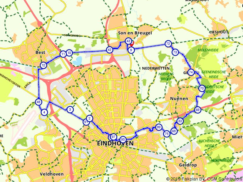 Waterrijke route door en rond Eindhoven