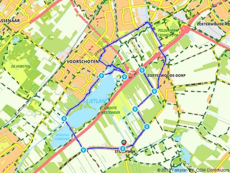 Wandelen door waterrijk Vlietland