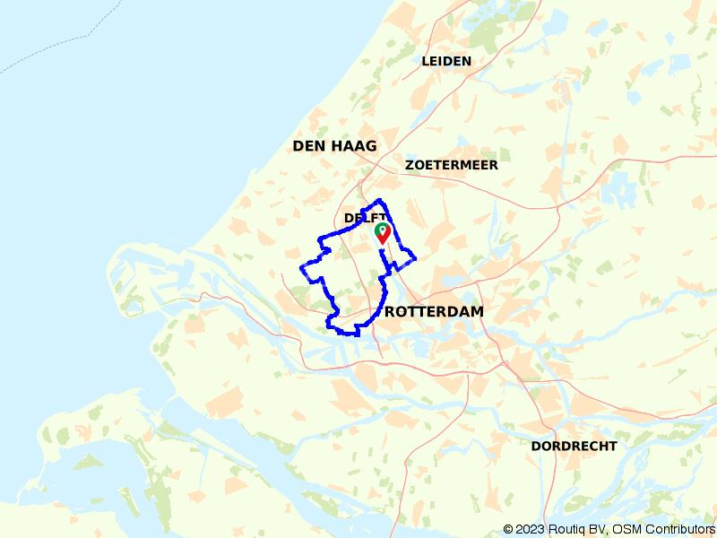 Fietsen in en om historisch Delft