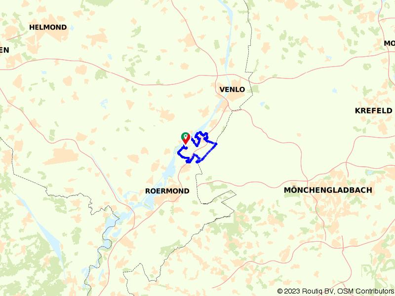Fietsen tussen de Maas en de Duitse grens