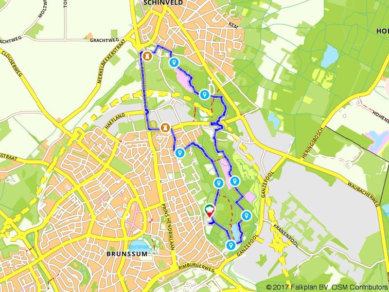 Van Brunssum naar Schinveld wandelen