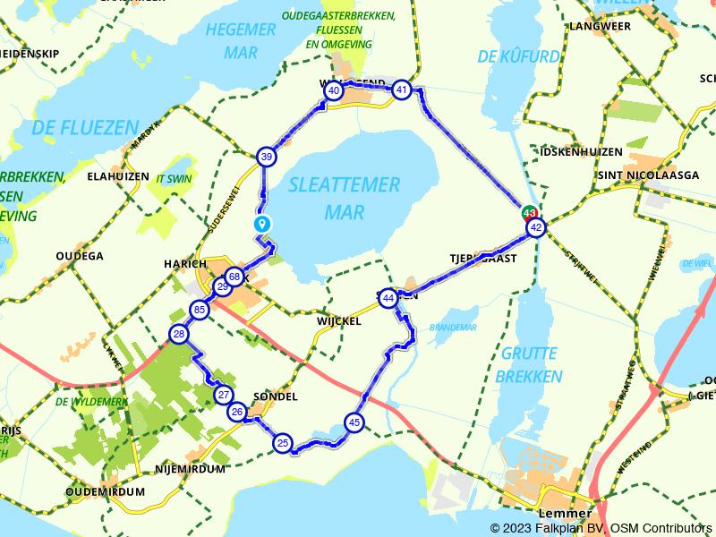 Een rondje om het Friese Slotermeer