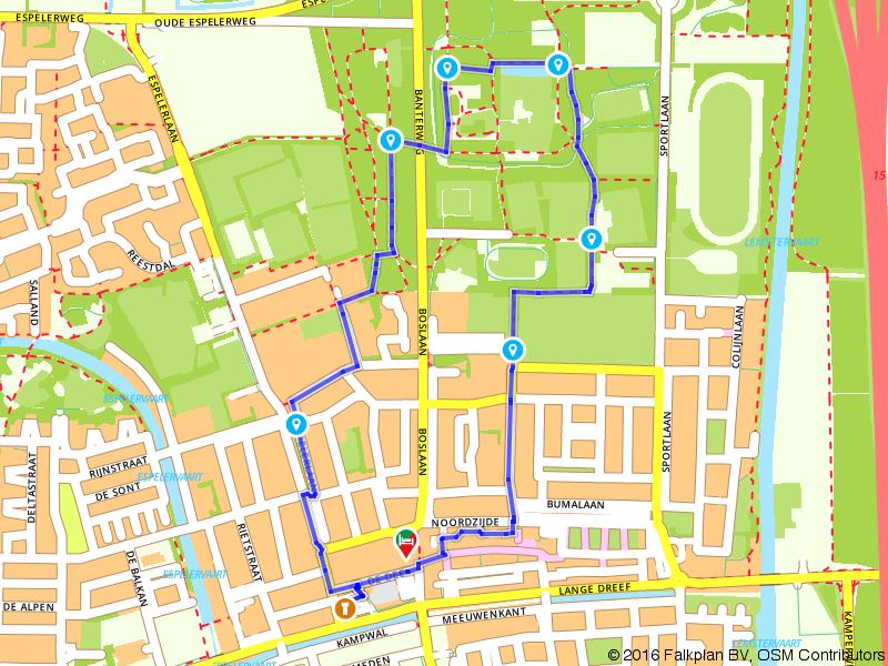Wandelen door het centrum van Emmeloord
