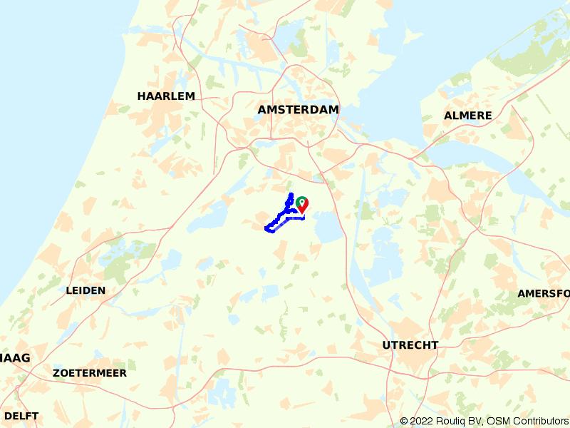 Fietsen langs de Amstel
