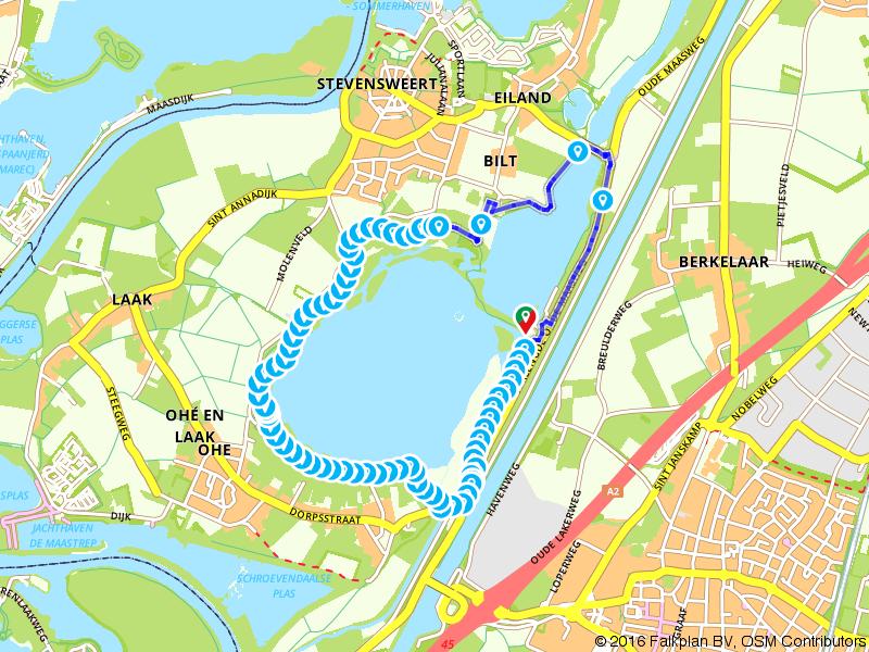 Priumwanderweg Nr. 8 Molenplas (Hoog water omleiding)