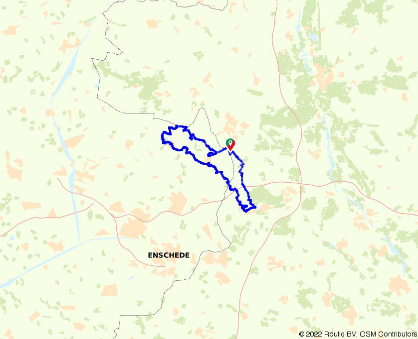 Vanuit Denekamp naar Bad Bentheim fietsen