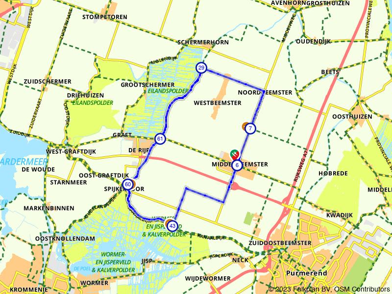 Het rechtlijnige poldergebied van De Beemster