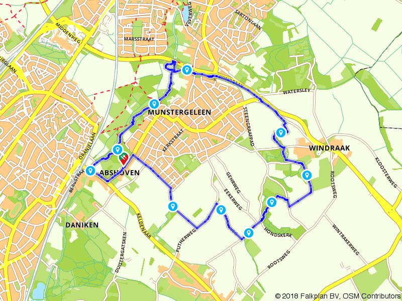Wandelen door het Geleenbeekdal rondom Munstergeleen