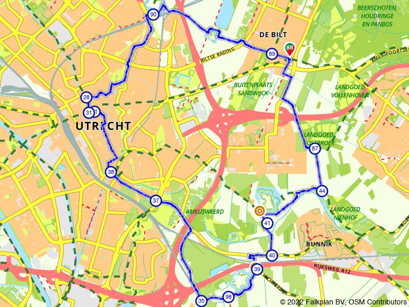 Fortenroute rondom Utrecht