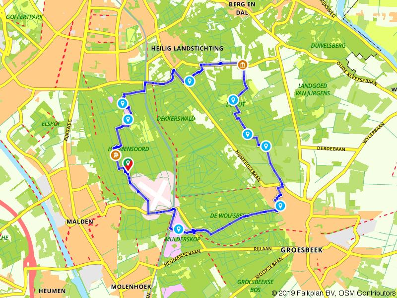 Wandelen door de bossen rondom Nijmegen