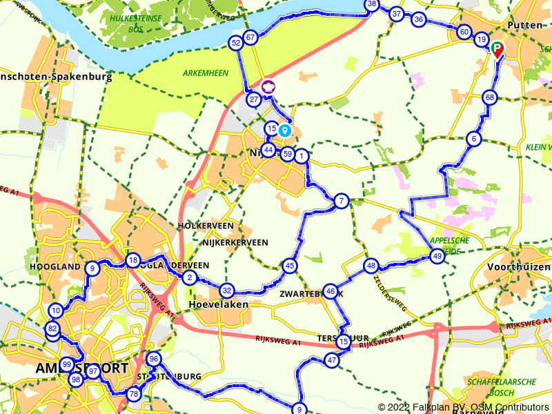 E-bike route Gelderse Vallei vanuit Amersfoort