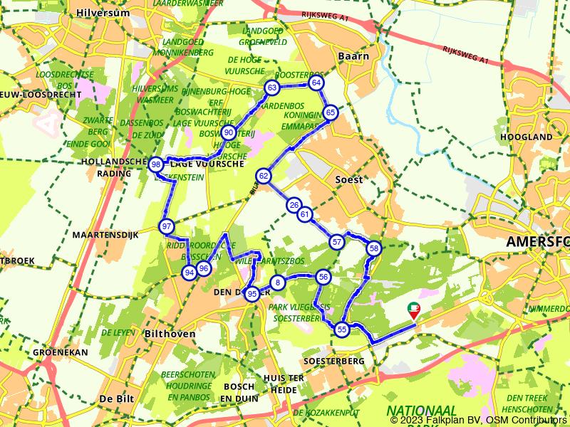 Kilometers lang door de bossen bij Lage Vuursche
