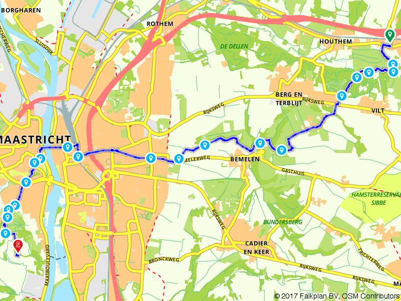 De 26e etappe van het Pieterpad