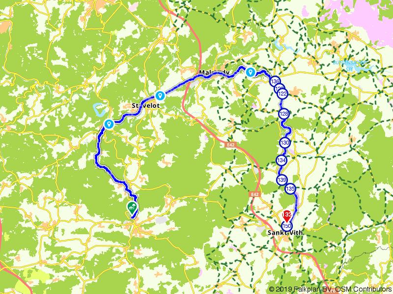 Op de fiets van Vielsalm naar Sankt Vith