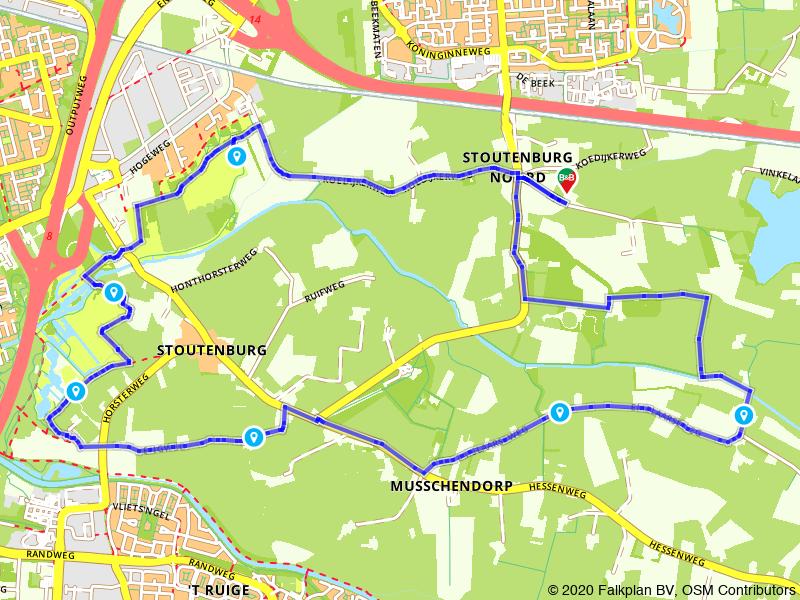 Rondje Landgoed Stoutenburg bij Amersfoort