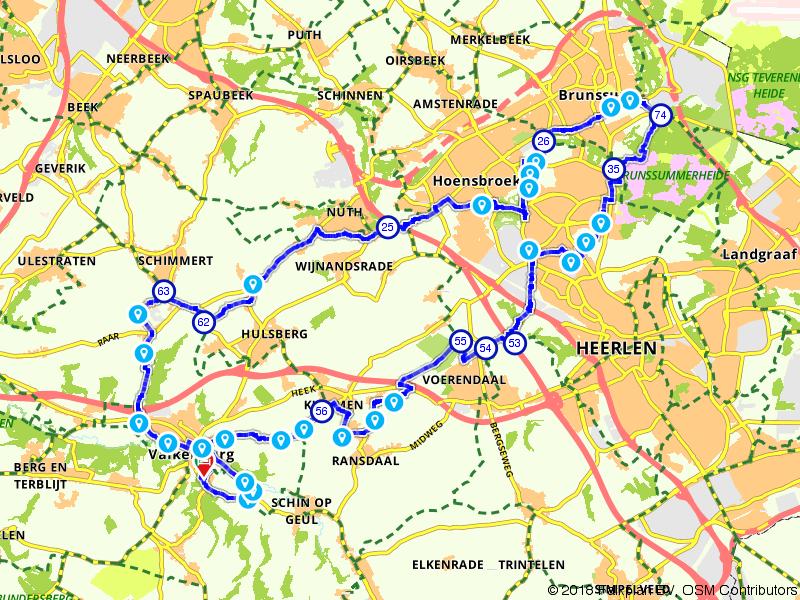 Van Valkenburg naar Brunssum