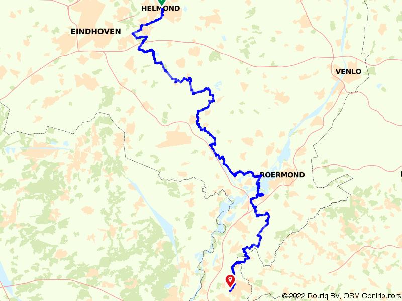 Op de fiets van Helmond naar Sittard