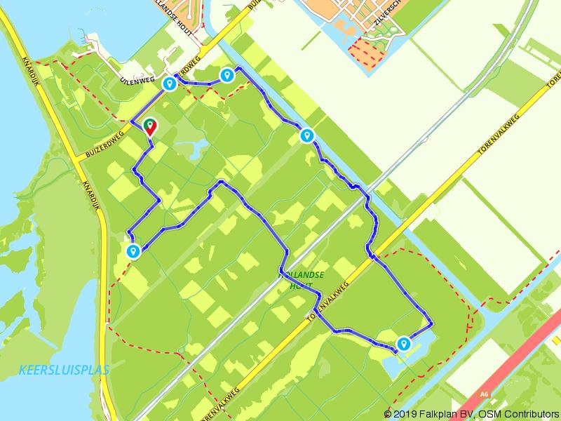 Wandelen door het Hollandse Hout