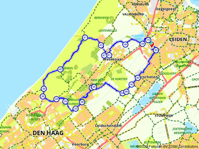 Rondje Leiden, Wassenaar en Meijendel