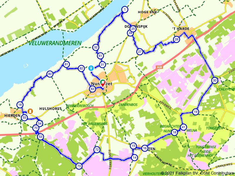 Rondje Nunspeet: water, bos en heide