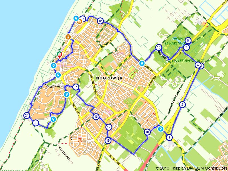 Wandelen door historisch Noordwijk