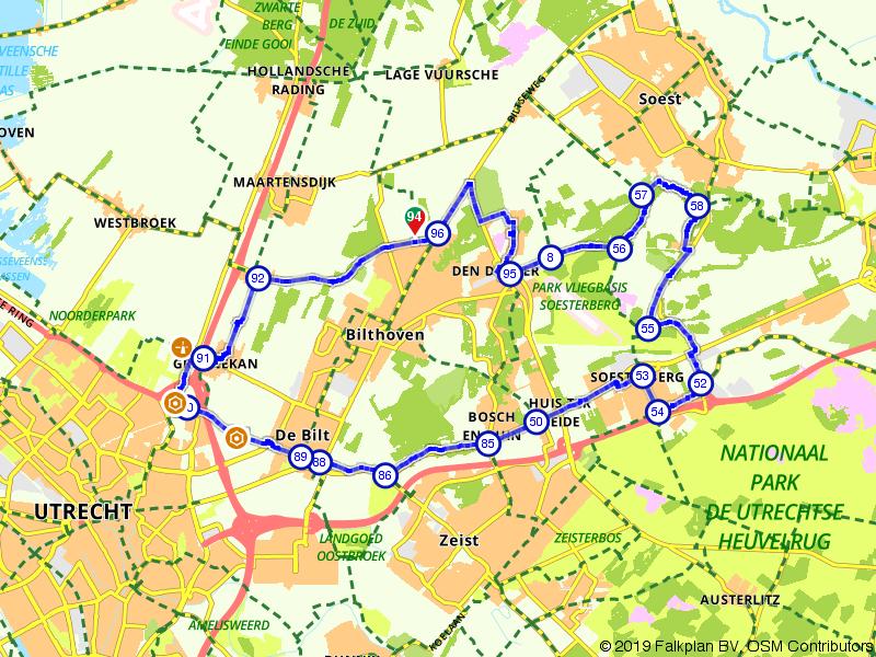 Heerlijk fietsen over de Utrechtse Heuvelrug