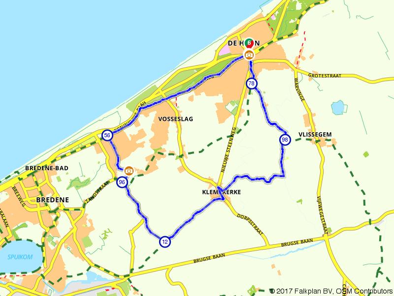 Zee van Smaak fietsroute in De Haan en Wenduine