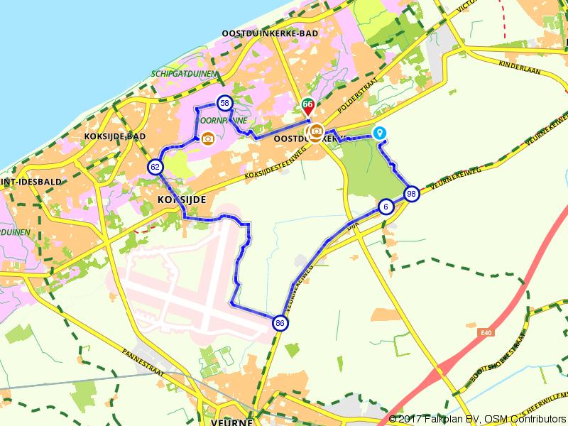 Zee van Smaak fietsroute in Koksijde-Oostduinkerke