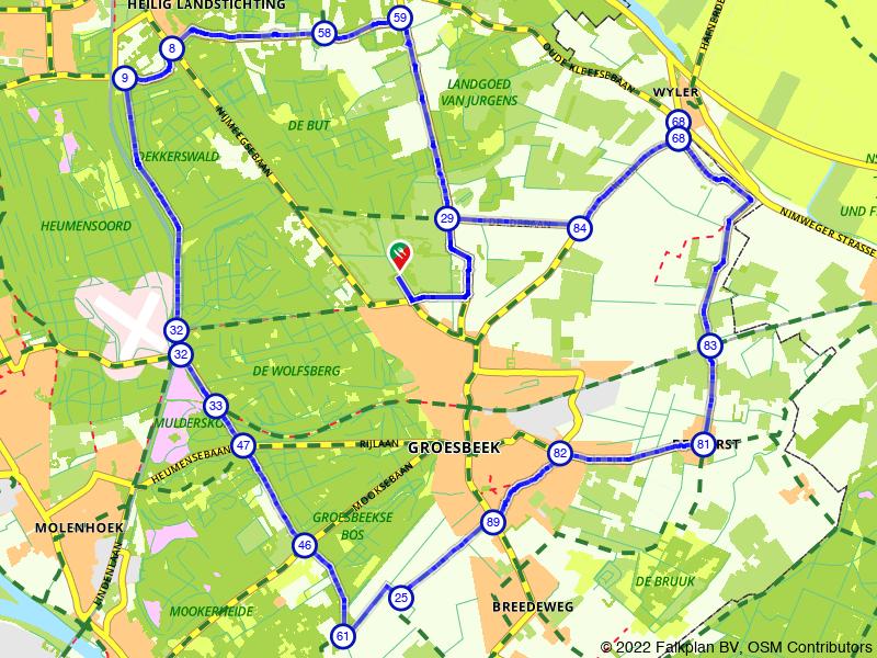 Rondje Groesbeek langs Museumpark Orientalis