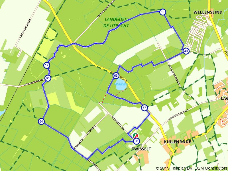 Suggestie route Natuurpoort de Spartelvijver
