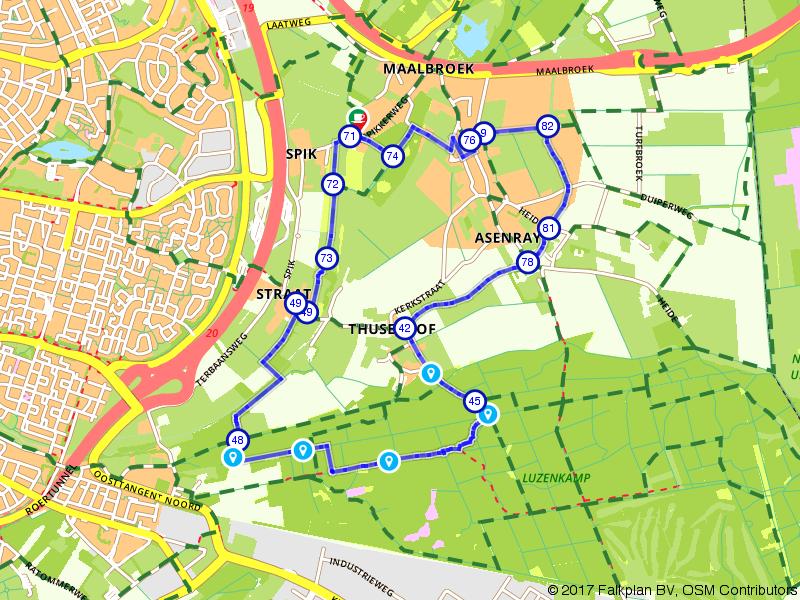 Wandelen in het buitengebied van Roermond