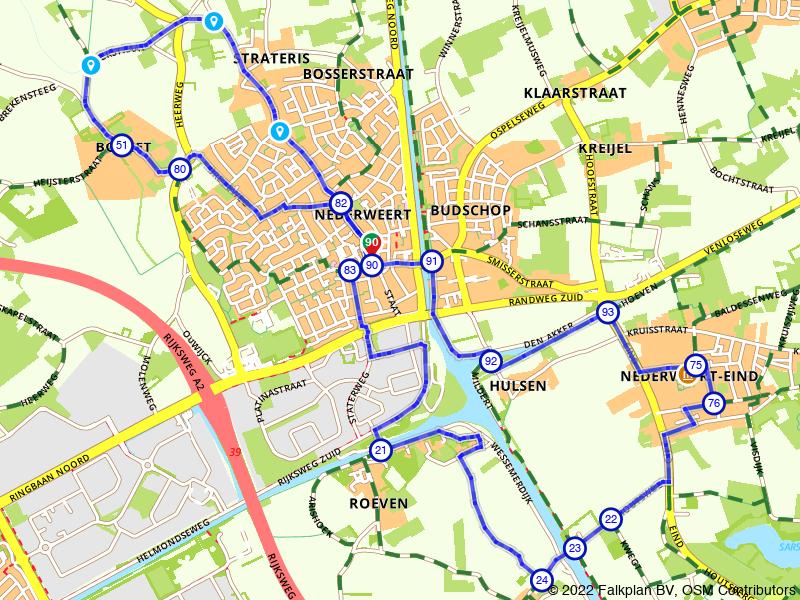 Langs het openluchtmuseum bij Nederweert