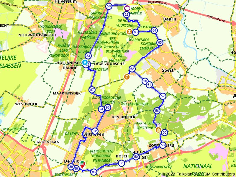 Fietsen door de bossen rondom Bilthoven