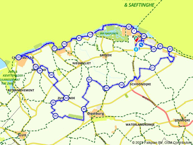 Uitwaaien aan de Zeeuws-Vlaamse kust