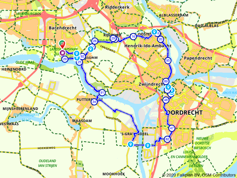 Oude Maas route