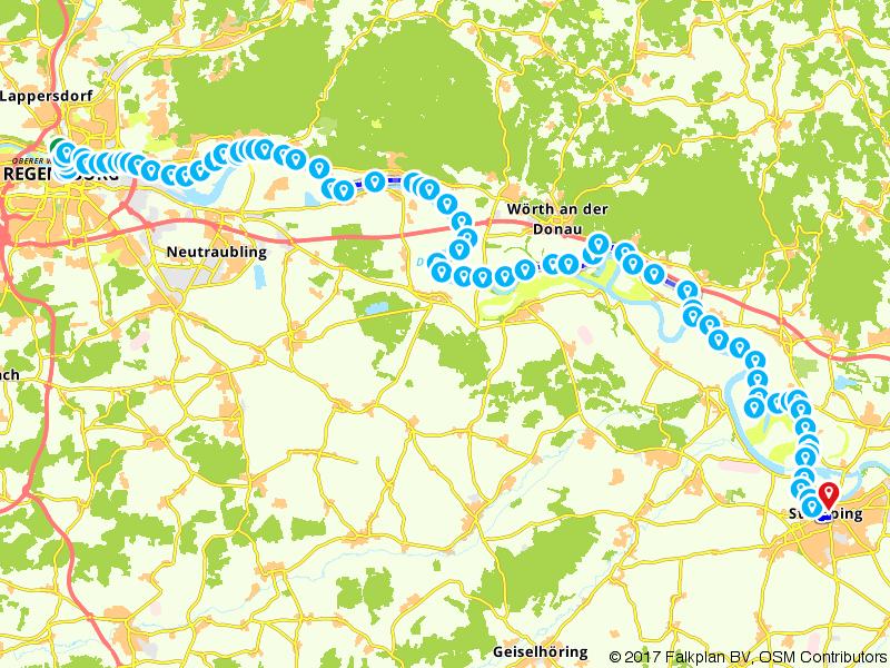 Donaufietspad Etappe 1 (Regensburg - Straubing)